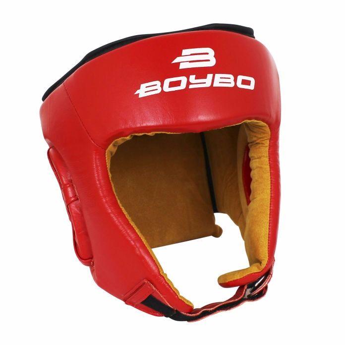 Шлем для единоборств BOYBO натуральная кожа Красный