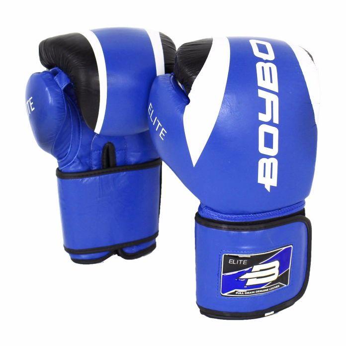 Перчатки бокс. BoyBo Elite кожа 10 OZ син. SF3-34-10